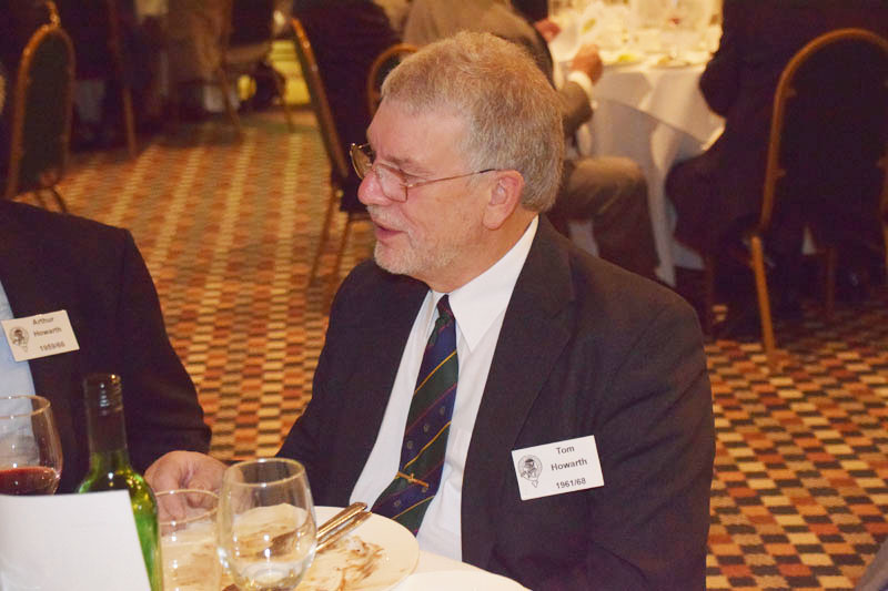 Photograph of Tom Howarth (1961/68) at Reunion Dinner 2016