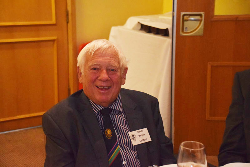 Photograph of Geoff Brown (1958/65) at Reunion Dinner 2016