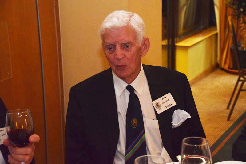 Photograph of Jack Bassett (1939/44) at Reunion Dinner 2016