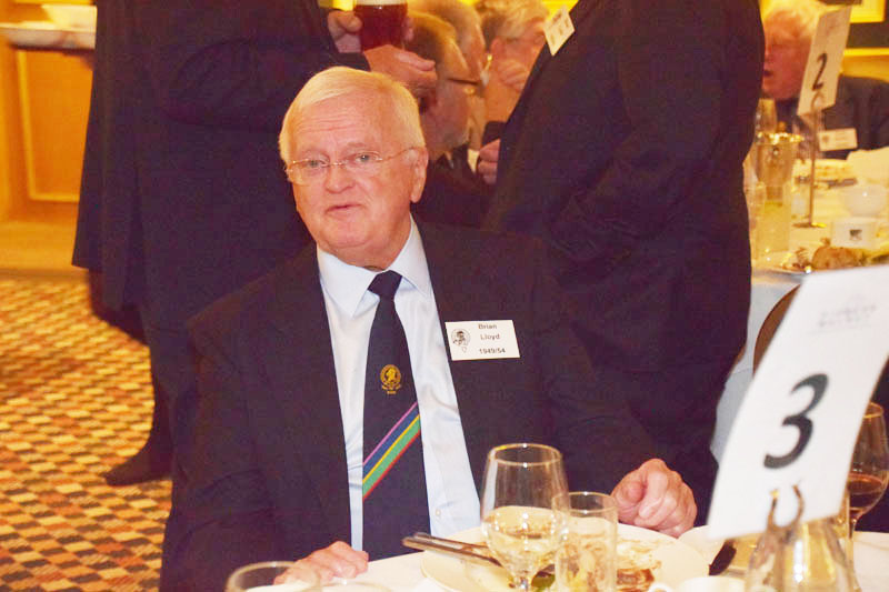 Photograph of Brian Lloyd (1949/54) at Reunion Dinner 2016