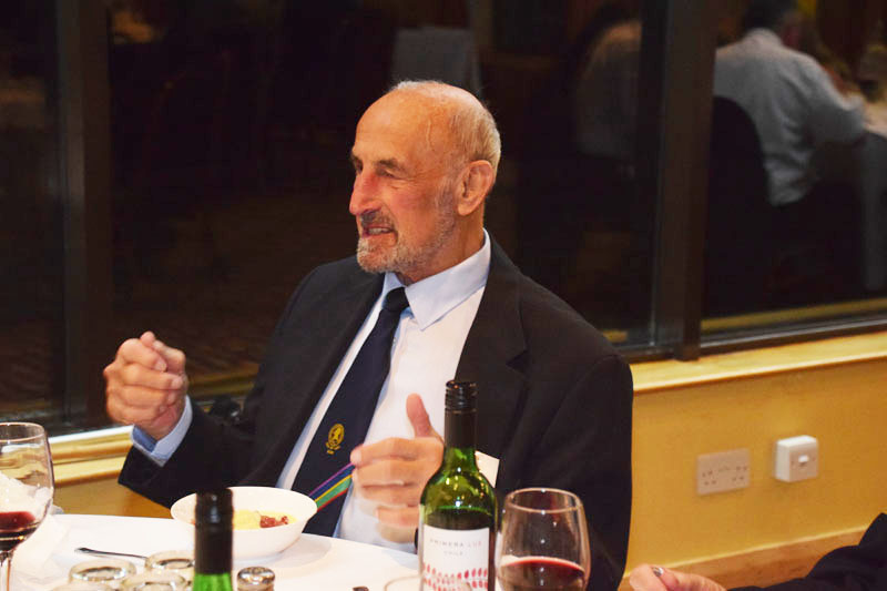 Photograph of Jim Crowe (1943/49) at Reunion Dinner 2016