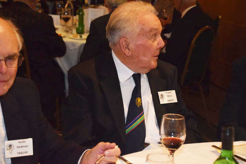 Photograph of Frank Wylie (1946/51) at Reunion Dinner 2016