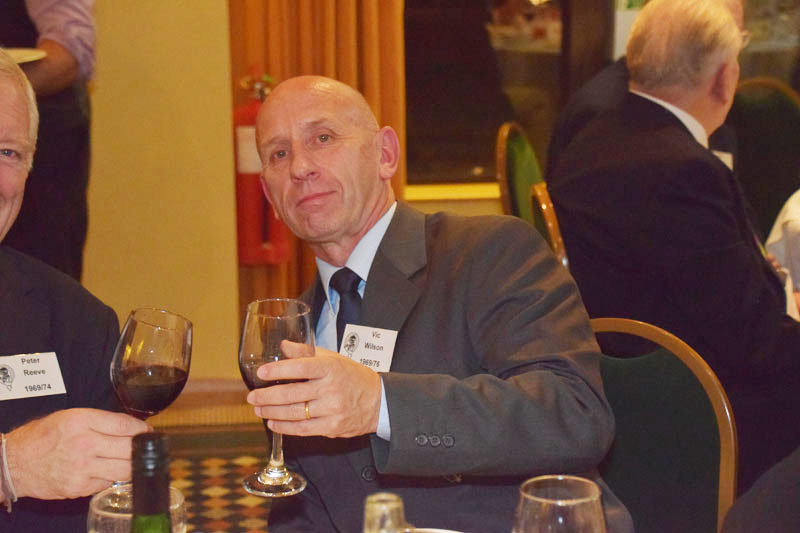 Photograph of Vic Wilson (1969/76) at Reunion Dinner 2016
