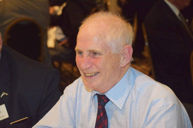 Photograph of Bill Shaw (1959/66) at Reunion Dinner 2016
