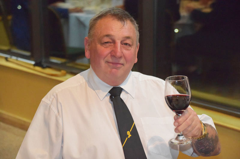 Photograph of Kiwi Jones (Old Instonians RUFC) at Reunion Dinner 2016