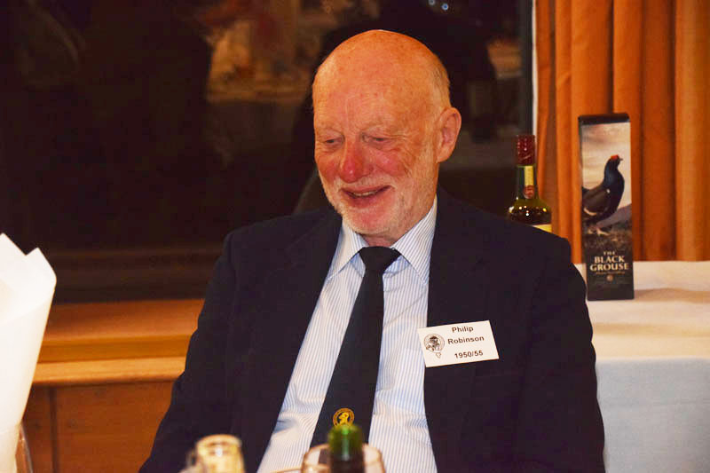 Photograph of Philip Robinson (1950/55) at Reunion Dinner 2016