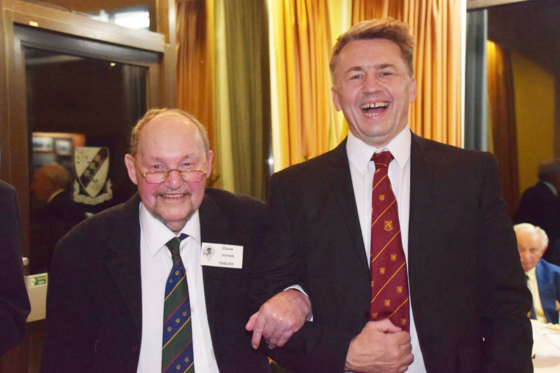Photograph of Dave (DSW) Jones (1940/85) at Reunion Dinner 2016
