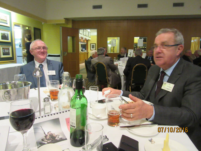 Photograph of Rob Waldron (1966/73) at Reunion Dinner 2016
