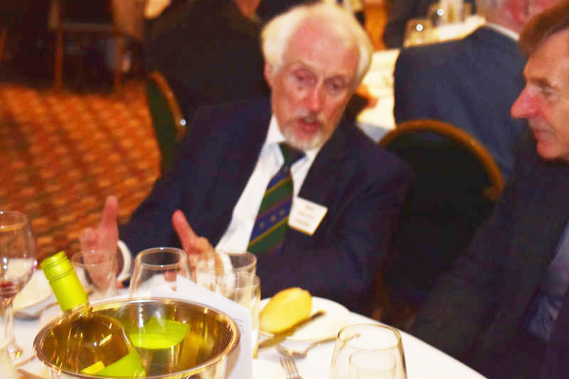 Photograph of Mike Hayman (1959/66) at Reunion Dinner 2017