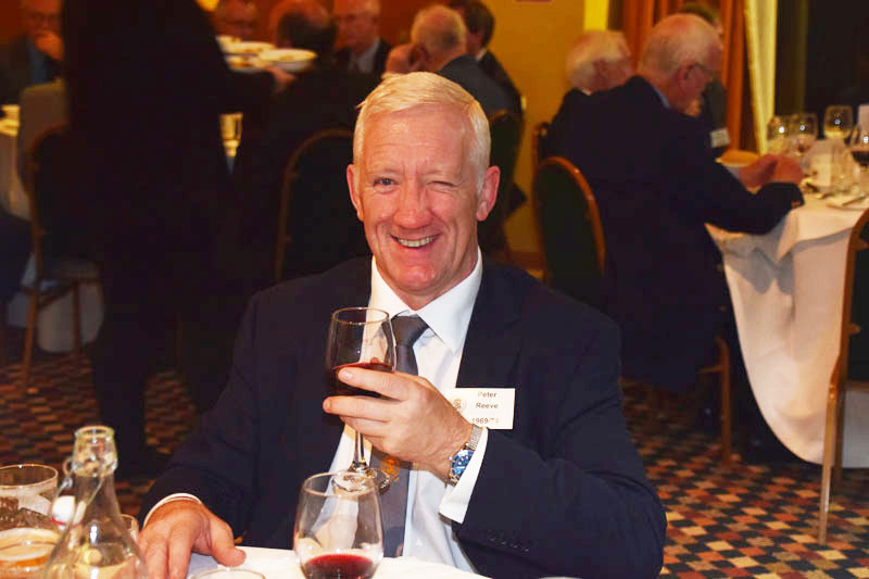 Photograph of Peter Reeve (1969/74) at Reunion Dinner 2017