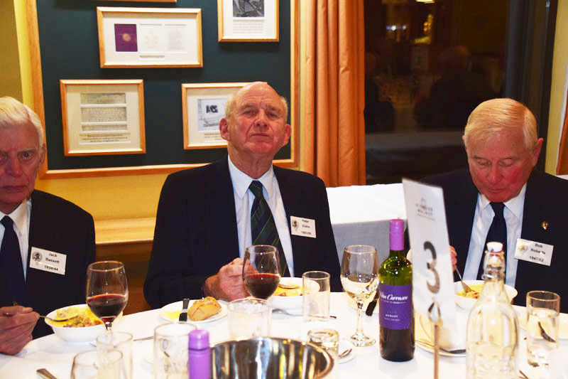 Photograph of Peter Evans (1951/59) at Reunion Dinner 2017