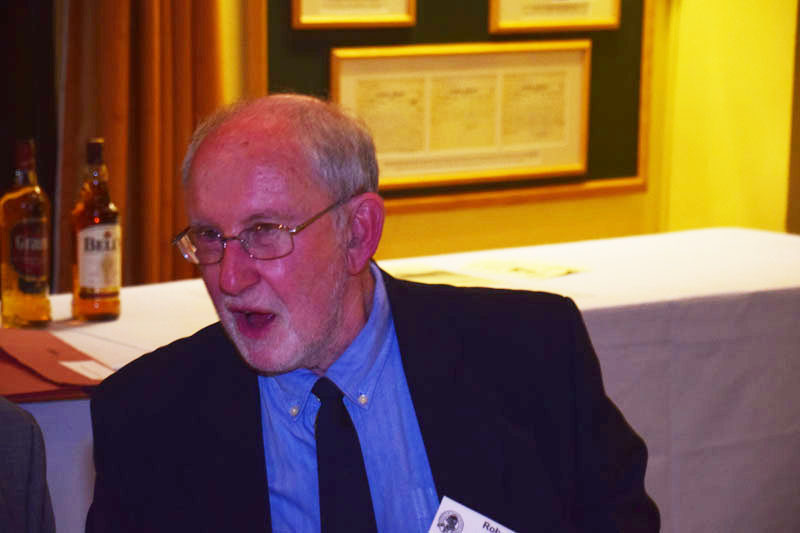 Photograph of Rob Wood (1954/60) at Reunion Dinner 2017