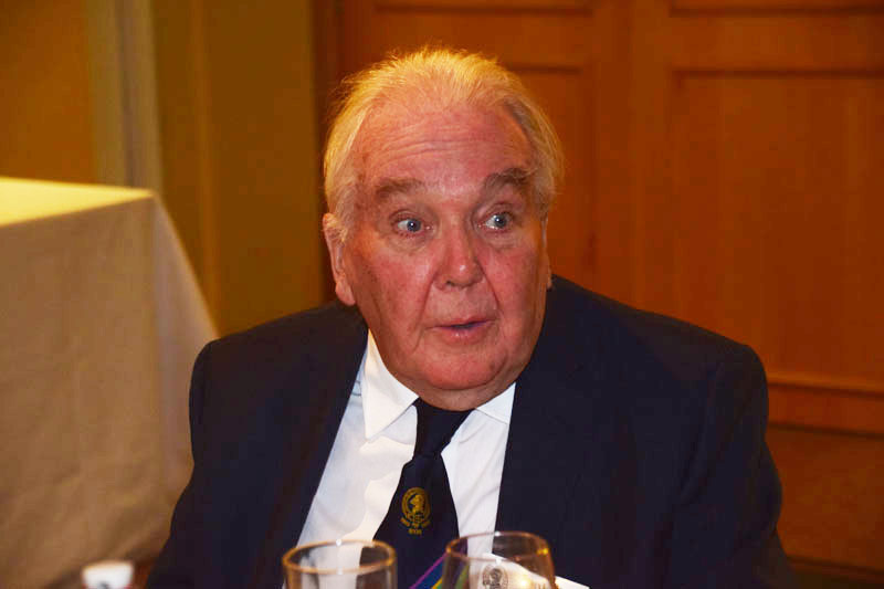 Photograph of Frank Wylie (1946/51) at Reunion Dinner 2017