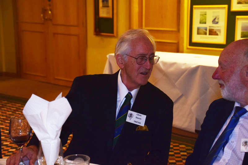 Photograph of Chris Slevin (1948/53) at Reunion Dinner 2017