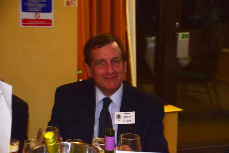 Photograph of Peter Wilson (1971/77) at Reunion Dinner 2017