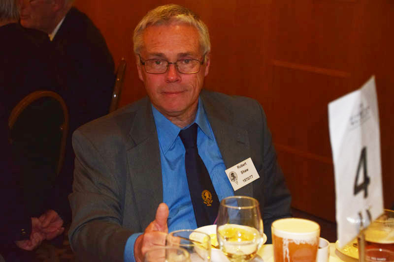 Photograph of Rob Shaw (1970/77) at Reunion Dinner 2017