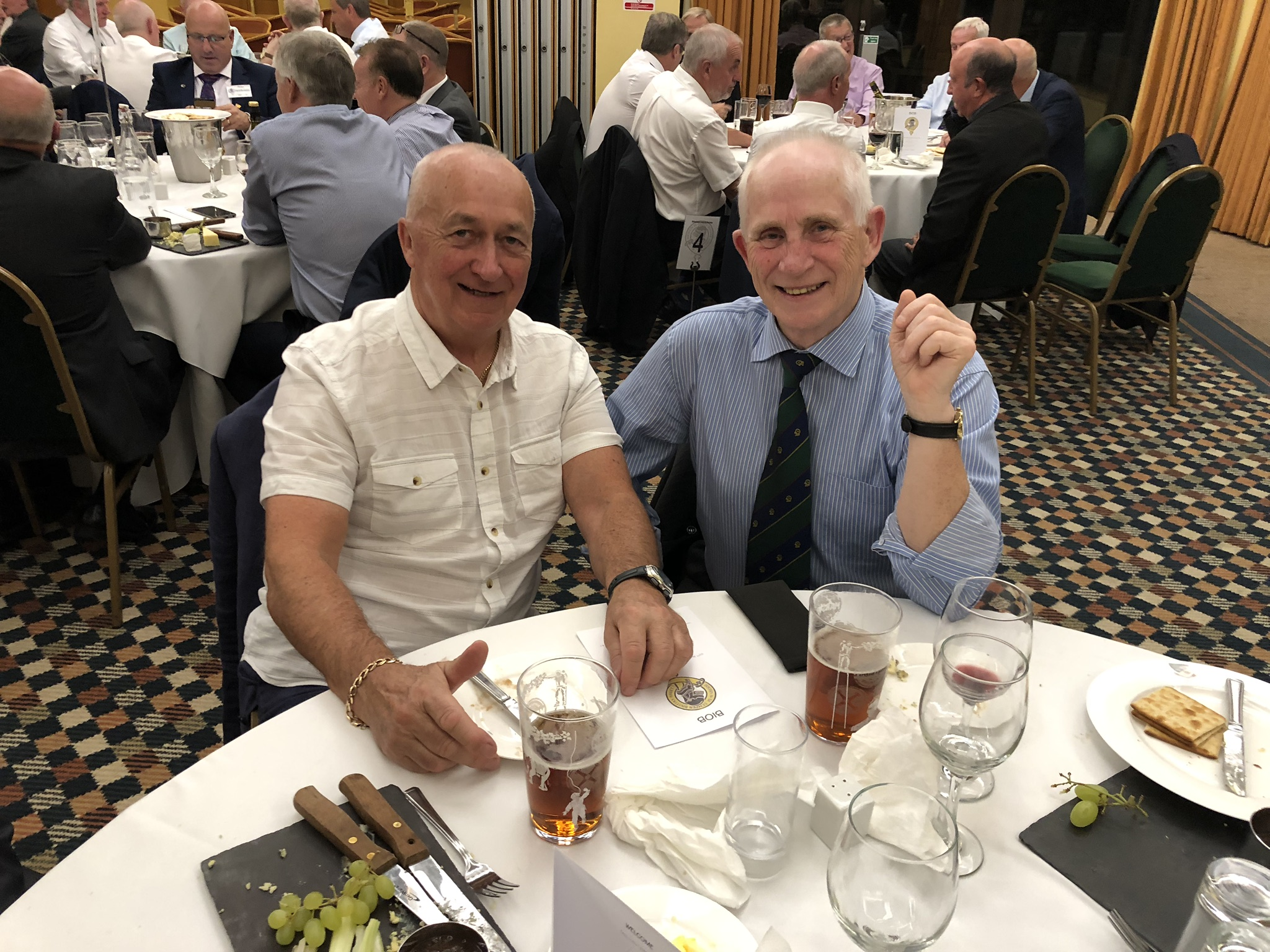 Photograph of Ian McDougall (1964/66) at Reunion Dinner 2019