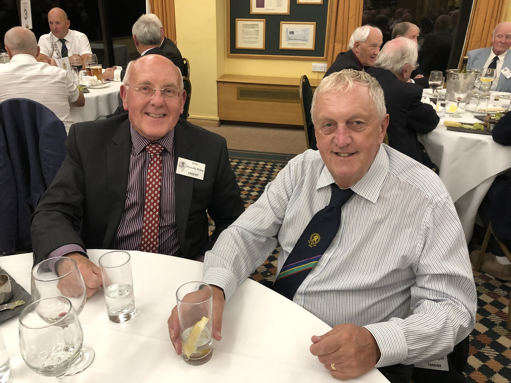 Photograph of Philip Ronald-Price (1960/67) at Reunion Dinner 2019