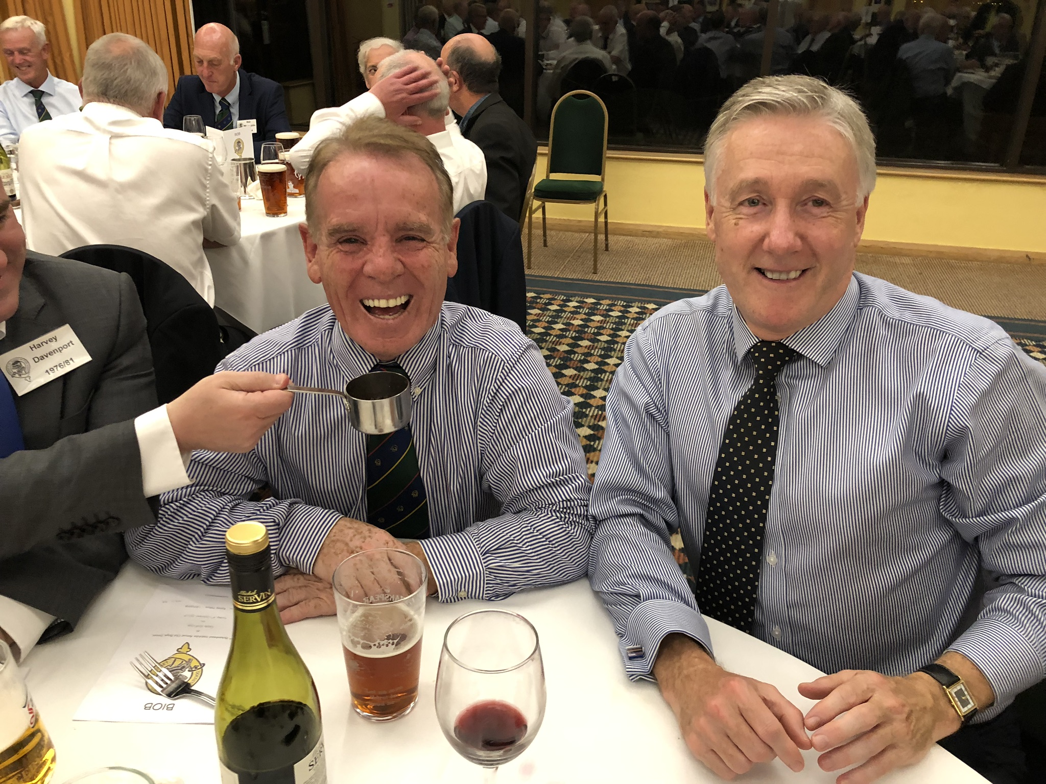 Photograph of Ken Hilton (1972/78) at Reunion Dinner 2019
