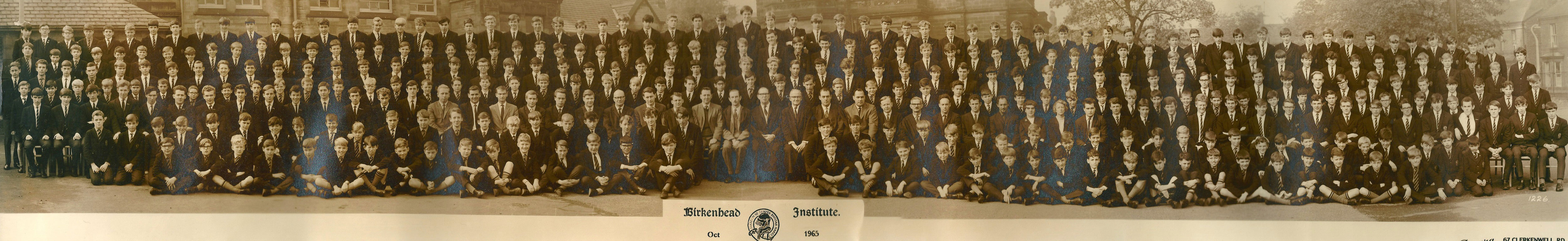 Whole School Photograph - October 1965